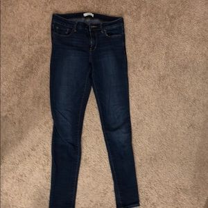 Abercrombie & Fitch skinny blue jeans